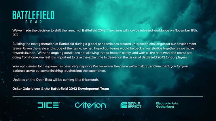 1 تاریخ انتشار Battlefield 2042 تاخیر خورد