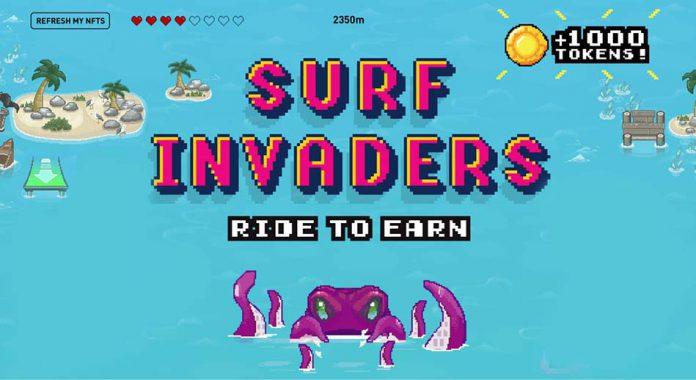 کسب درآمد به صورت رمز ارز با شکستن رکورد بازی Surf Invaders